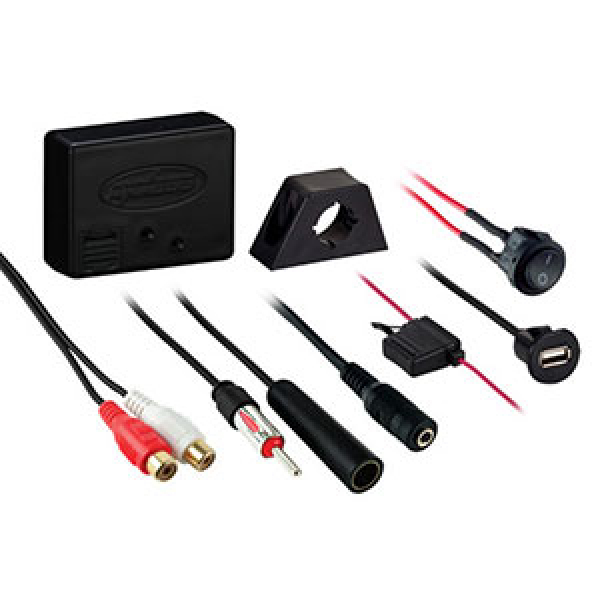 Bluetooth AUX. Wireless music streaming suits most car stereos.
