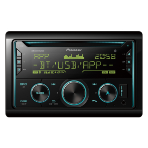 Double Din Pioneer Bluetooth CD Stereo Radio.